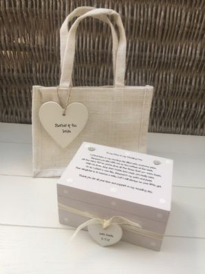Shabby Personalised Chic Mother Of The Bride Gift Set Wedding Thank You Mum Mam